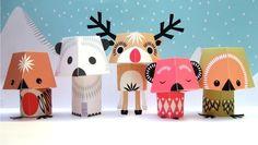 Christmas Creatures by mibostudio on Etsy