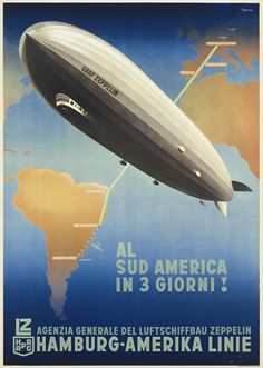 Travel poster - zeppelin