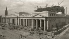 Construction of Pennsylvania Station, New York.  Photograph by August Patzig, ca. 1910.  McKim, Mead and White Architectural Record Collection.  NYHS Image #69863.