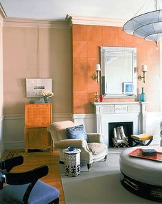frank roop interiors/images | Frank Roop: Colorful modern living room + leather wall tiles | Flickr ...