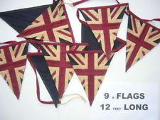 union jack fabric bunting - Google Search