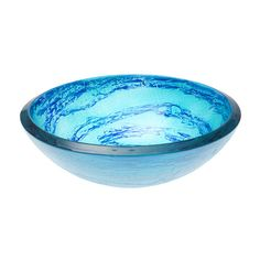 Features:  -This elegant, round glass vessel sink catches and reflects light…