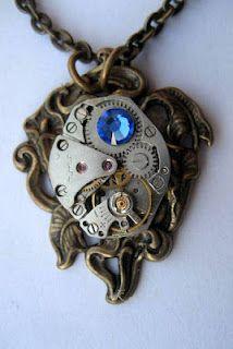 Lily Calla Steampunk Necklace
