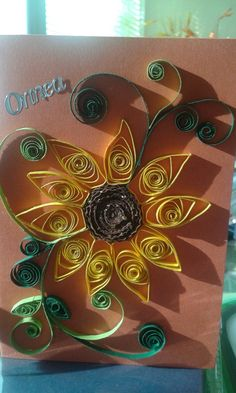 Sunflower by quilling