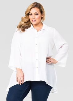 905f23b65ec Gauze Hi-Lo Tunic Gauze Hi-Lo Tunic Plus Size Sale