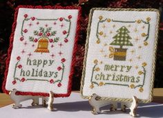 """Cross Stitch  """"A Tree And A Bell For Christmas""""    by New York Dreamer"""
