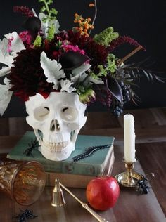 DIY crâne fleuri Halloween