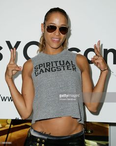 """Actress Dania Ramirez attends the """"Yes You Can"""" Halloween charity ride at SoulCycle on October 2015 in West Hollywood, California. Dania Ramirez, Scorpio Woman, Halloween News, West Hollywood, Charity, November, Actresses, Tank Tops, Image"""