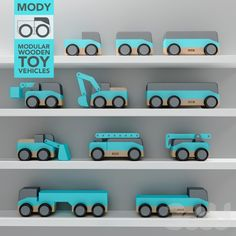 MODY - wooden toy vehicles