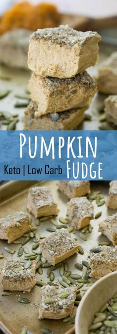 Our no bake, easy pumpkin fudge is the perfect low carb, indulgent way to treat yourself this holiday season!