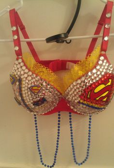 Superman Rhinetone Bra Custom made to order by Smokinghotdivas, $80.00 #WinatomAddmefastBot