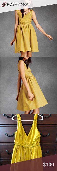 2a9d000029f27 Anthropologie BHLDN Dress in Marigold - Size 10 Full-skirted taffeta