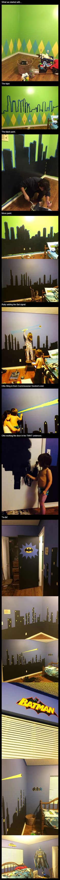 How To Turn Your Kid's Room Into An Awesome Batman Room! – 14 Pics