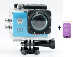 Sports Camcorder Blue Underwater Waterproof Camera, Sports Action Bicycle Helmet Car DVR Recorder 12MP HD 1080P Wide-Angle Lens + Variety of Stands/Mounts/Casing for Skiing, Snowboarding, Surfing, Hiking, Climbing, Extreme Sports (Blue) Cooler http://www.amazon.co.uk/dp/B00N3Y9J84/ref=cm_sw_r_pi_dp_ke4Nvb1PWME1C