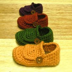Instant Download - Crochet Pattern - Buccaneer Booties (Newborn to 18 mo.)
