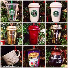 Starbucks & Tim Hortons Holiday Ornaments #Starbucks #TimHortons