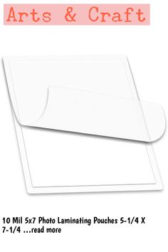 10 Mil 5x7 Photo Laminating Pouches 5-1/4 X 7-1/4 Laminator Sleeves Qty 100 by LAM-IT-ALL … (This is an affiliate link)