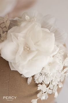 Discover Tania Maras, an Australian designer of bridal headpieces, wedding veils, bridal jewellery and bridal hair accessories Flowers In Hair, Silk Flowers, Fabric Flowers, Craft Flowers, Flower Crafts, Ribbon Embroidery, Embroidery Patterns, Bridal Hair Accessories, Bridal Jewelry