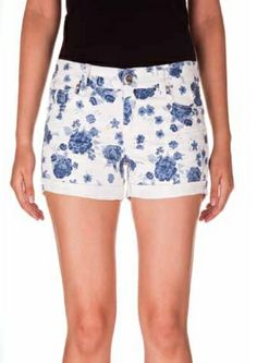 Floral Printed Denim Shorts Boho Shorts, Denim Shorts, Printed Denim, Spring 2014, Short Dresses, Floral Prints, March, Women, Fashion