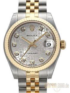 Rolex Datejust 31 178273 Silber Jubile DIA Jubile-Band