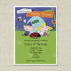 Personalised ben and holly #children's party #birthday #invitation inc. envelopes,  View more on the LINK: 	http://www.zeppy.io/product/gb/2/200990387994/