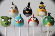 Angry Birds inspired cake pops by SUSYPOPS on Etsy