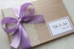 Decoración boda en tonos lavanda: fotos ideas originales - Originales invitaciones para boda en lavanda
