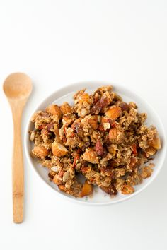 Granola is super easy to make and it lasts up to 3 weeks. This oil free granola is so delicious, you won't notice any difference!