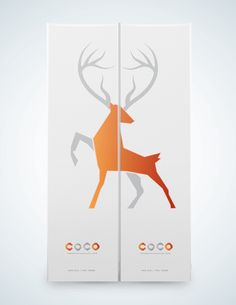 Coco vodka - I love the drama of taking up two panels for such a bold logo and the use of warm and cold colors.  Very elegant.