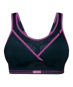 df01f5011d Black  amp  Purple Ultimate Gym Sports Bra  zulilyfinds