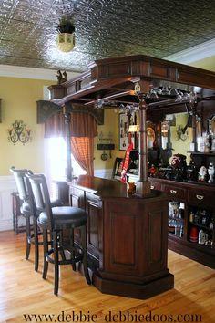 This dining room turned Vintage Pub is amazing!!