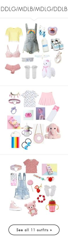 """""""DDLG/MDLB/MDLG/DDLB"""" by hoodmaleah ❤ liked on Polyvore featuring UNIF, Topshop, Untold, Monsoon, STELLA McCARTNEY, Ponytail Pals, Hot Topic, Minna Parikka, Casetify and H&M"""