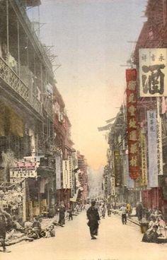Bill ✔️ 1900s. Magnificent Wellington St, Central/Mid Levels, Hong Kong. Bill Gibson-Patmore. (curation & caption: @BillGP). Bill✔️