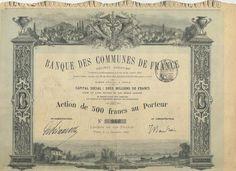 Banque des Communes de France, Paris, 1880