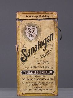 Sanatogen. The indications or uses for this product as provided by the manufacturer are: Food tonic. A concentrated nutrient with tonic properties. It is very easily digested and absorbed and is recommended as an effective means of reinforcing the daily diet of aneamic and convalescent patients, including children, and in cases of weakness and exhaustion from overwork or illness.