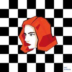 KiKi ArtWorks Kristyna Hrdlickova #illustration #thequeensgambit #queensgambit #kikiartworks
