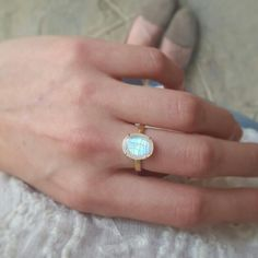Moonstone ring by ATELIER Gaby Marcos