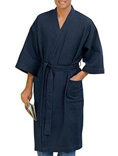 Harbor Bay by DXL Big and Tall Waffle-Knit Kimono Robe Review Mens Sleepwear  6f5b679a4