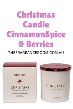 Top notes of Christmas Cinnamon Spice and Berries meld evocatively with the wonderfully earthy tones of cardamom. A hint of orange zest rounds off the fragrance to heighten the celebratory mood.