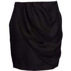 VIKTOR & ROLF draped pencil skirt (128.035 HUF) ❤ liked on Polyvore featuring skirts, bottoms, saias, jupes, gonne, draped pencil skirt, silk pencil skirt, draped skirts, knee length pencil skirt and silk skirt