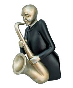 Attraktiv Look At This Sax In Silver Figurine