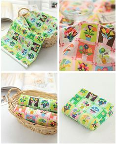 Vivid Colorful Flower Design Patch Pattern 30s by luckyshop0228, $10.90