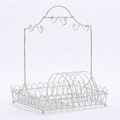 White Wire Dish Rack | World Market  -If my next place doesn't have a dishwasher, I am soooo buying this!