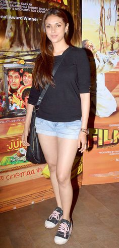 Aditi Rao Hydari at the special screening of 'Filmistaan'.***