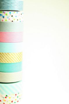 pretty patterned washi tape.