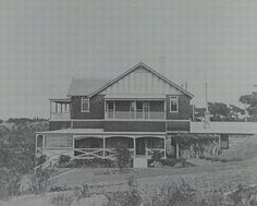 Moombara House at Lilli Pilli, front view of house and grounds, ca. early 1900s