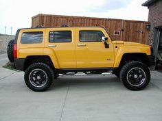Nice yellow H3 HUMMER