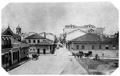 Rua São Bento, centro de São Paulo, em 1887