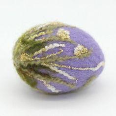 Folk Art Handmade Needle Felted Egg Easter Artist Spring 3in Melissa Philbrook #Unbranded #Easter
