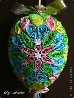 Поделка, изделие Квиллинг: Пасхальное яйцо Бумага Пасха. Фото 5